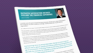 Outdated Satisfaction Metrics Exclude the Financial Experience